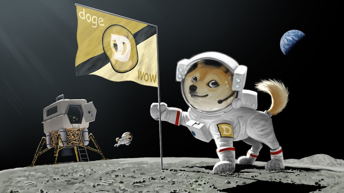 Dogecoin Is Going to the Moon, Literally