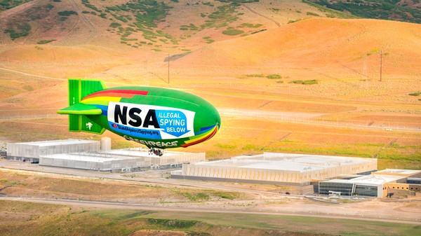 High Res Photos of the Activist Blimp That Spied on the NSA's Data Center