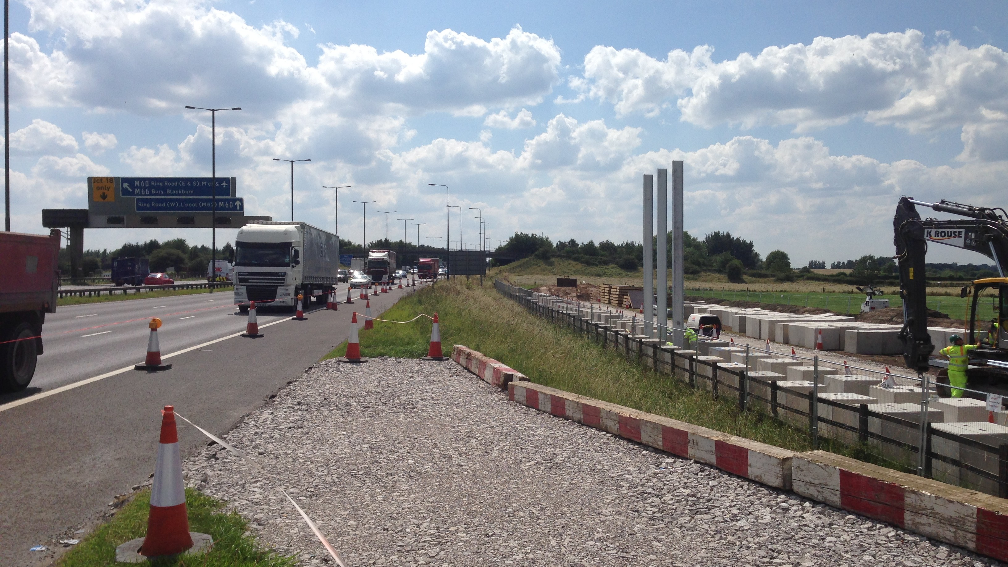 Motorways Are Building Roadside Barriers to Shield Towns from Pollution