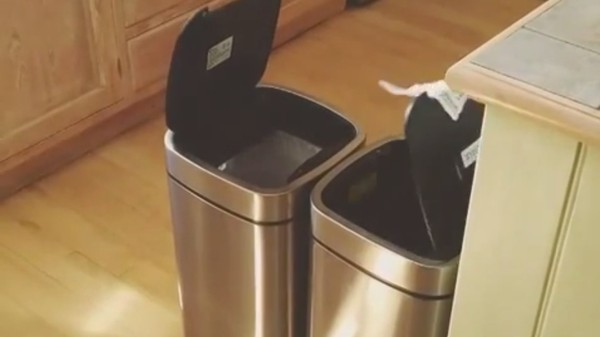'A Dad Discovers Two Motion Detector Trash Cans' Is the Best YouTube Video