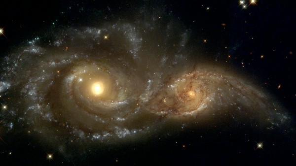 Colliding Galaxies Left a Stream of Gas 2.6 Million Light Years Long