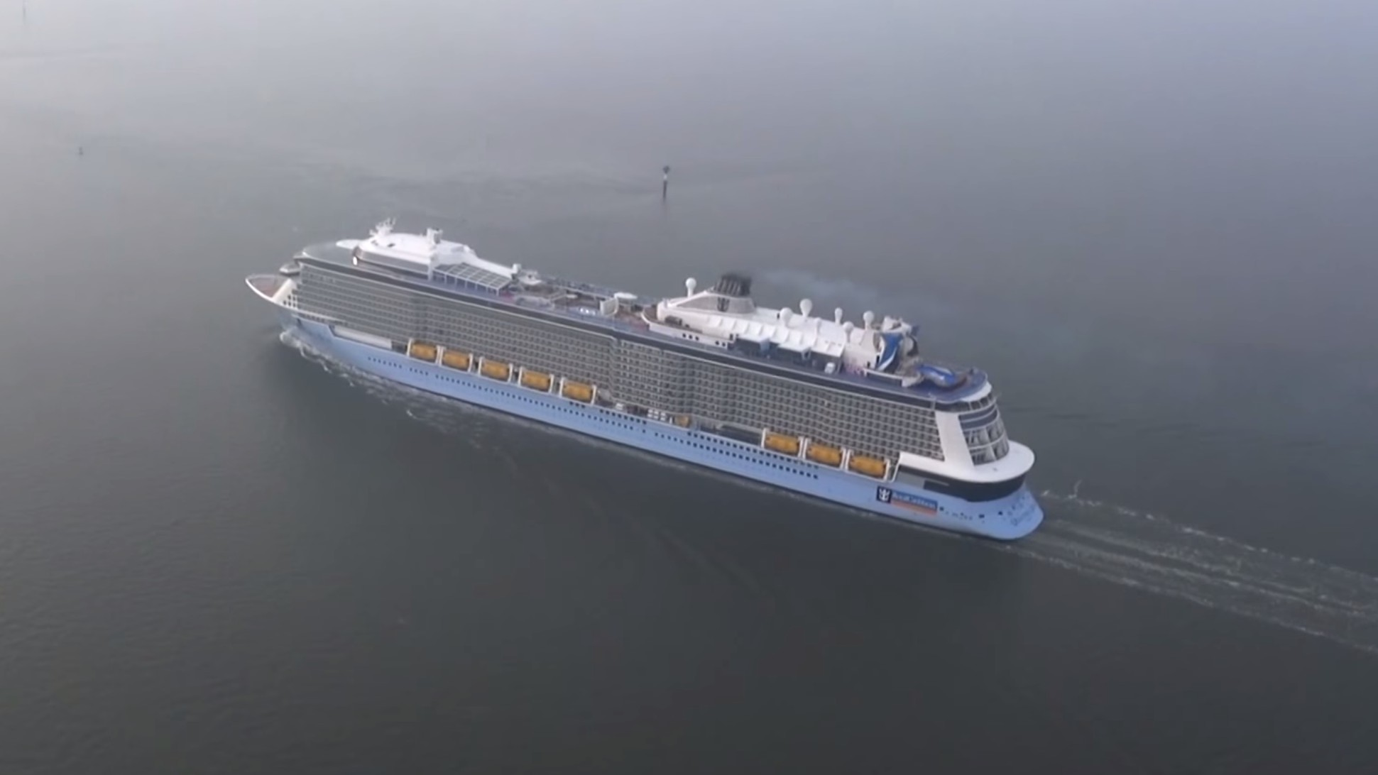 Watch the Third-Biggest Cruise Ship Ever Built Take to the Seas