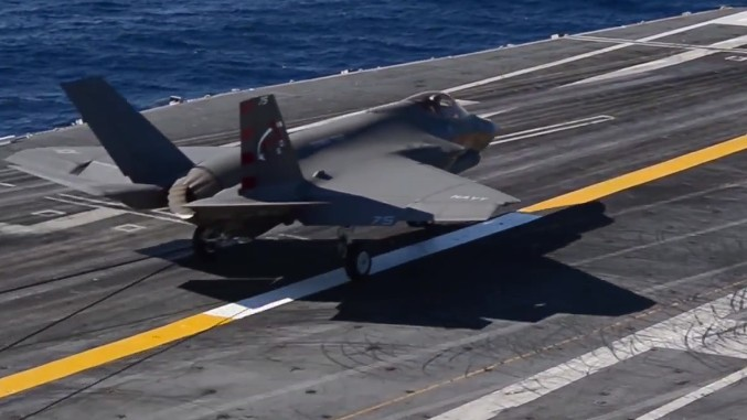 Watch the F-35 Finally Land On an Aircraft Carrier