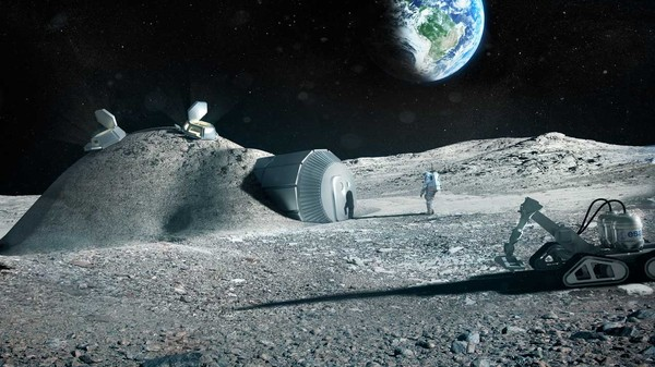 This Is What Your 3D-Printed Moon Home Will Look Like