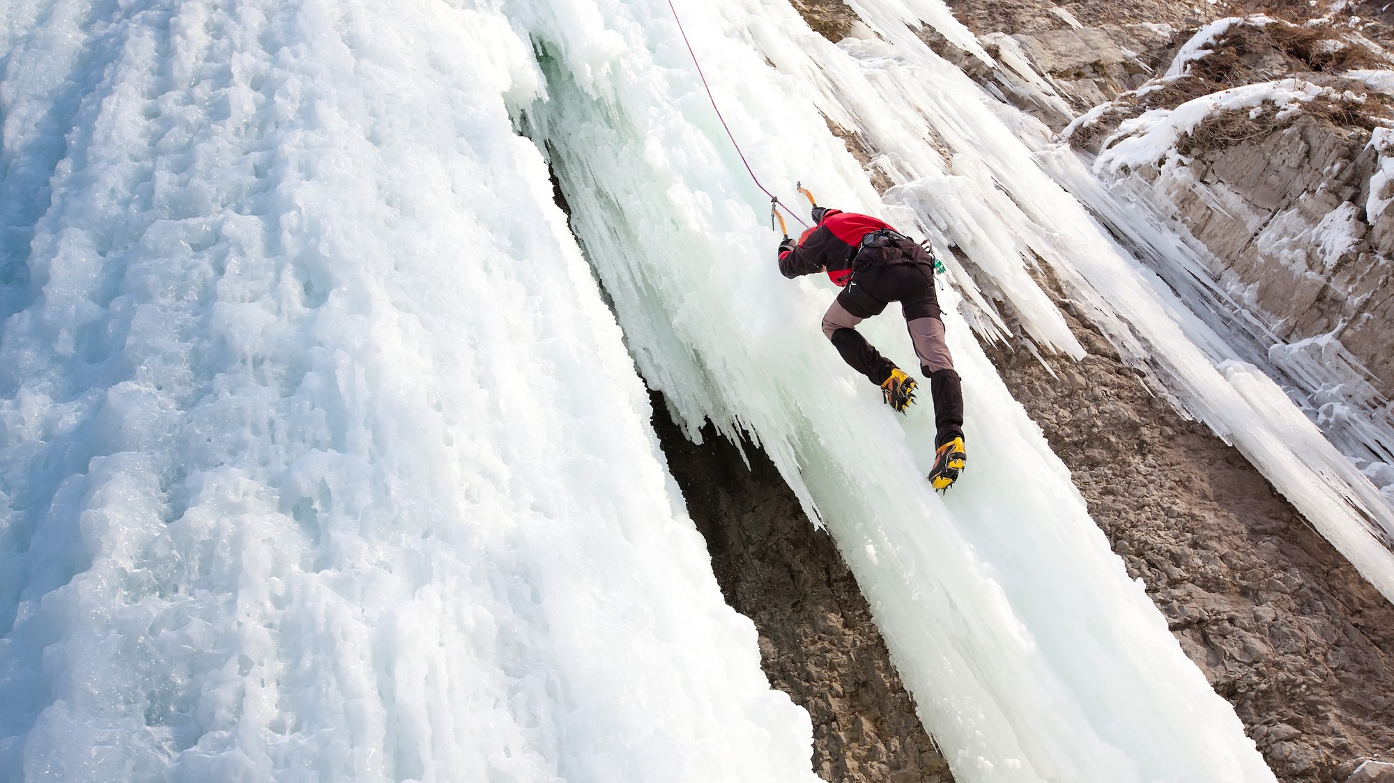 Gear Physics: How Ice Screws Keep Ice Climbers from Falling
