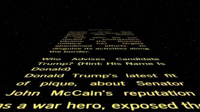 You Can Now Read the News Styled Like the Beginning of 'Star Wars