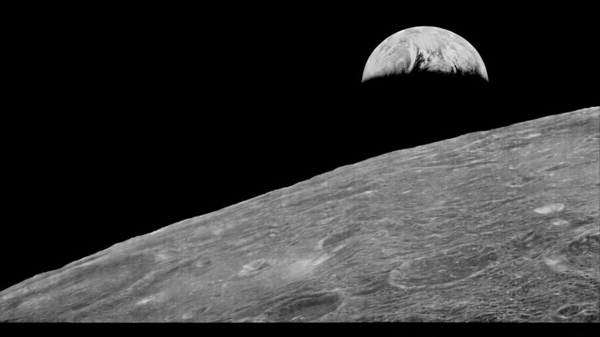 The First Photographs of the Earth from the Moon Were Taken