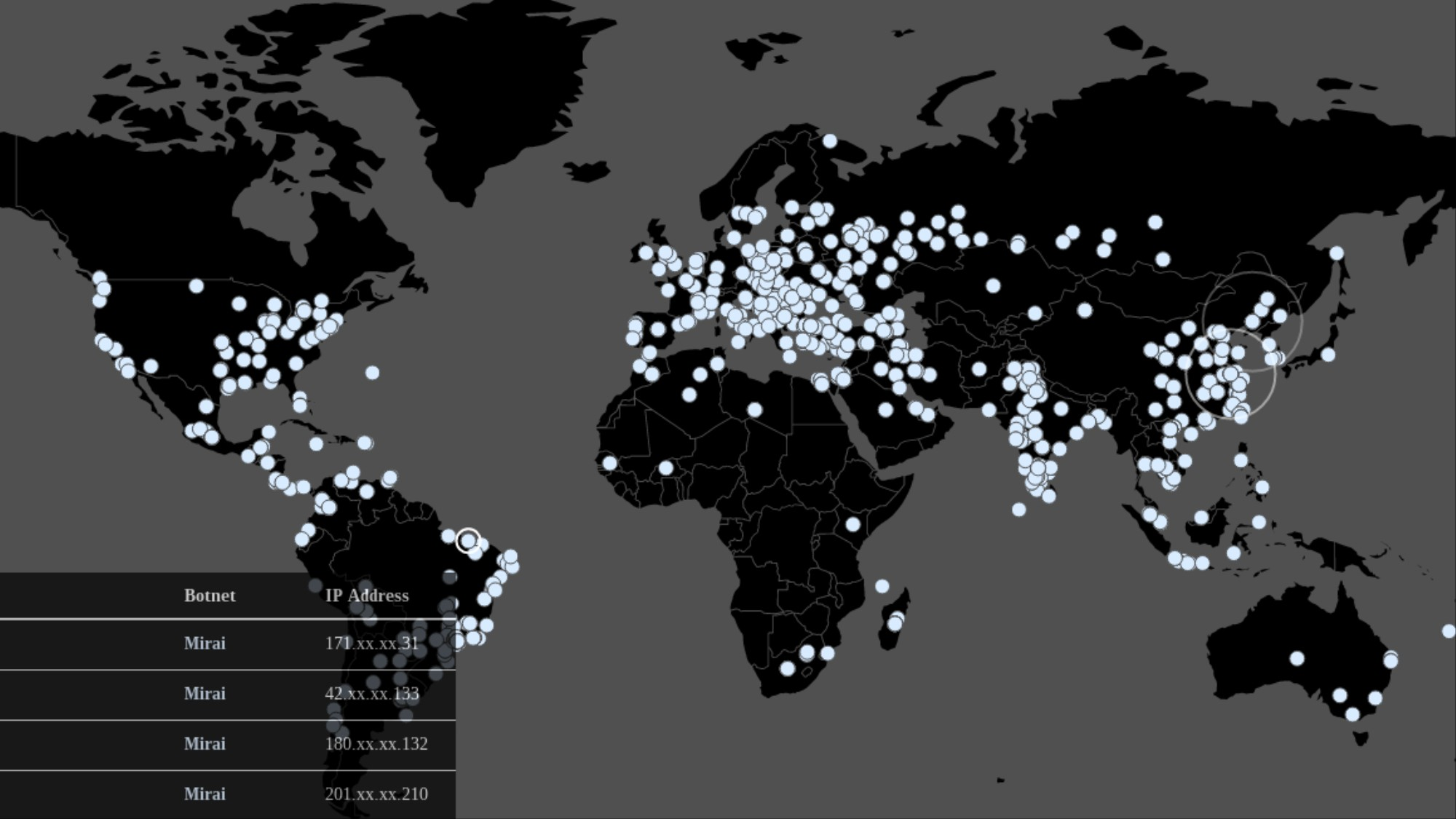 Here's a Live Map of the Mirai Malware Infecting the World - VICE on