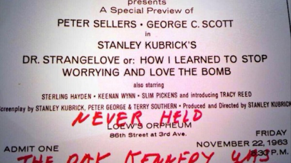 Stanley Kubrick Cancelled a Preview of