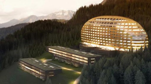 The Global Elite Are Sleeping Inside a Golden Egg in the Swiss Alps