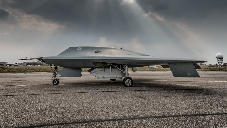 Watch the UK's New £185 Million Military Drone Take Flight