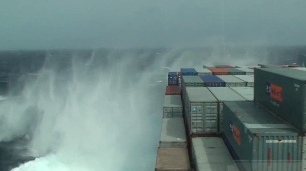 How Container Ships Flex in High Seas