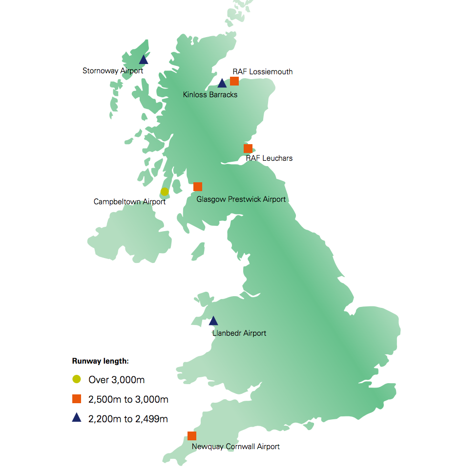 The Eight Places The UK Might Build Its First Spaceport Motherboard - Map Of The Us And Britain