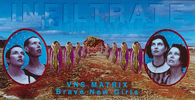 VNS Matrix postcard. Image courtesy of Virgina Barratt.