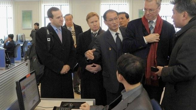 Against All Odds and Common Sense Eric Schmidt Is Looking at Things in North Korea