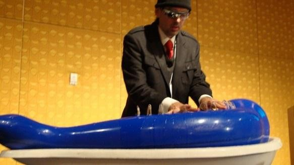 This Cyborg Builds Instruments Out of Water: Video