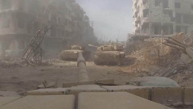Videos from Syrian Army Tanks Show the Toll of Urban Warfare