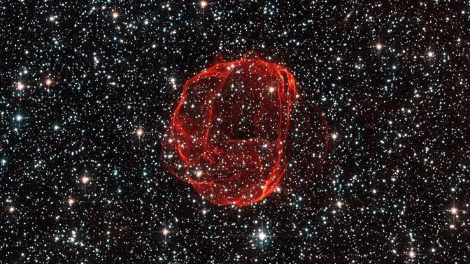 WOW, kijk deze Hubble-foto van een supernova-overblijfsel dan