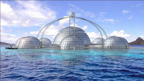 A British Designer Wants to Build a 40-Story Submersible Biosphere
