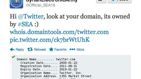 The NY Times, Twitter, and HuffPo UK Appear to Have Been Stolen by the Syrian Electronic Army