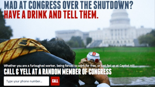 Furloughed? This Website Helps You Drunk Dial Congress