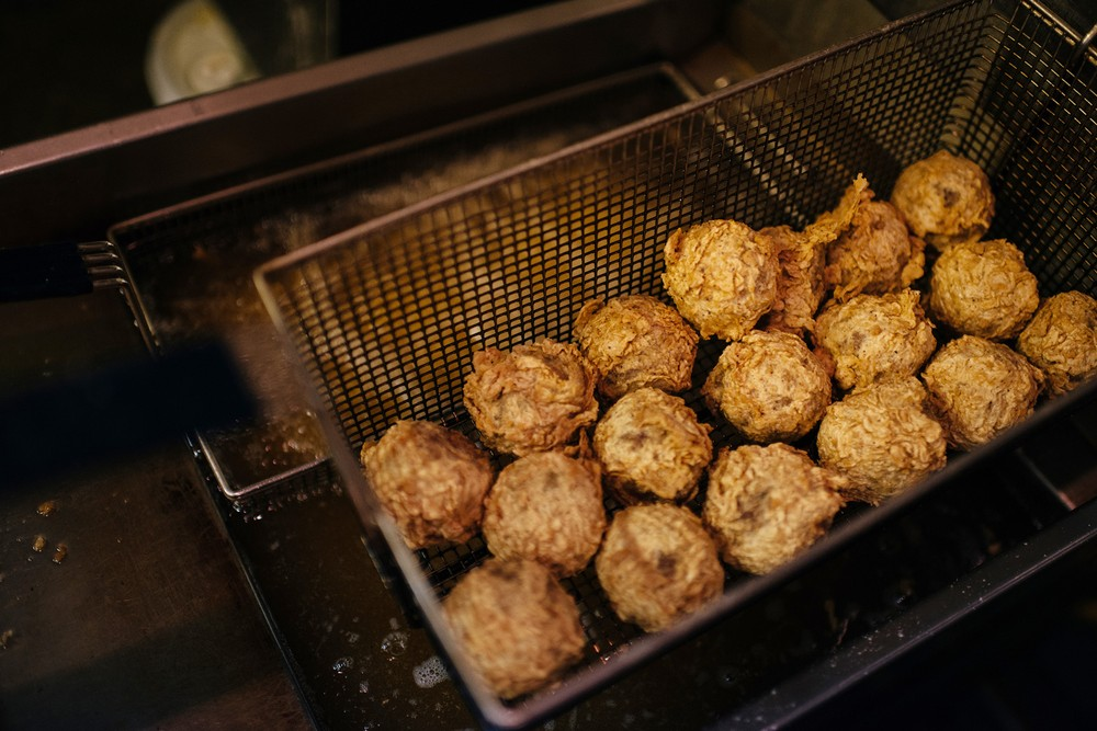 ... pepper jack cheese-stuffed boudin balls. All photos by Denny Culbert
