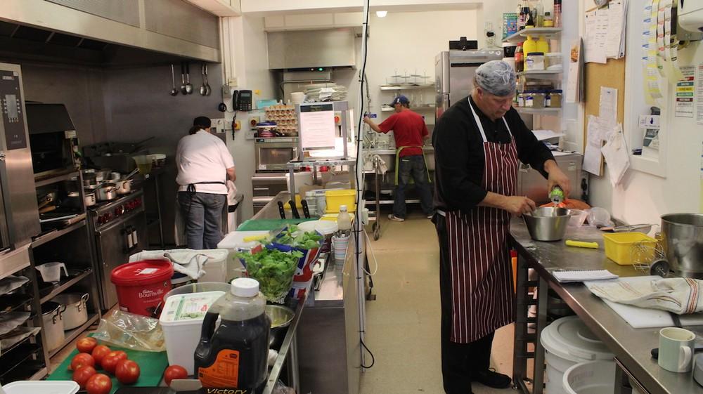 Chris in kitchen