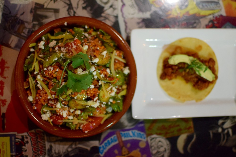 toasted_cous_cous_salad_and_discada_taco