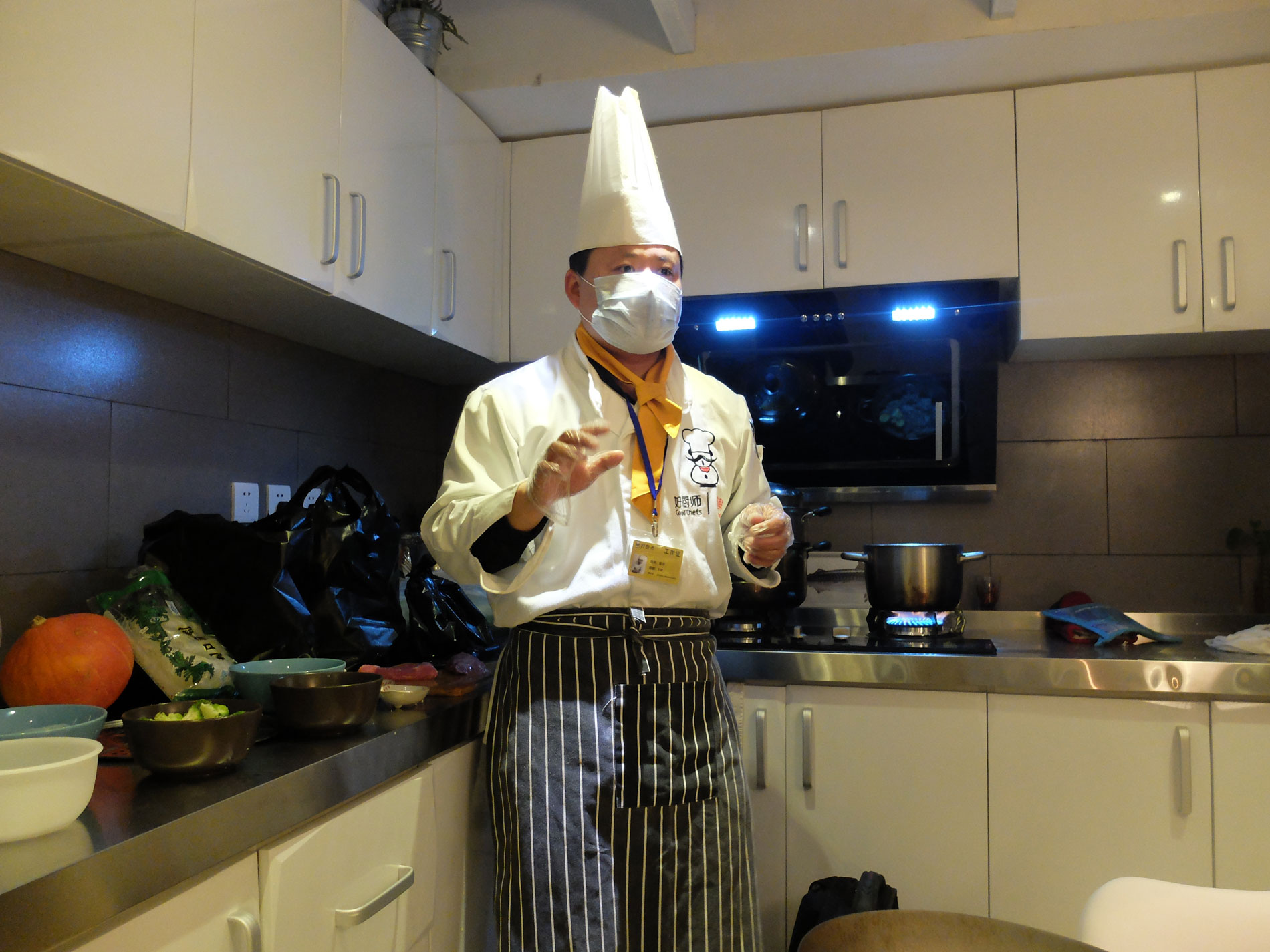 Dinner---chef-in-mask