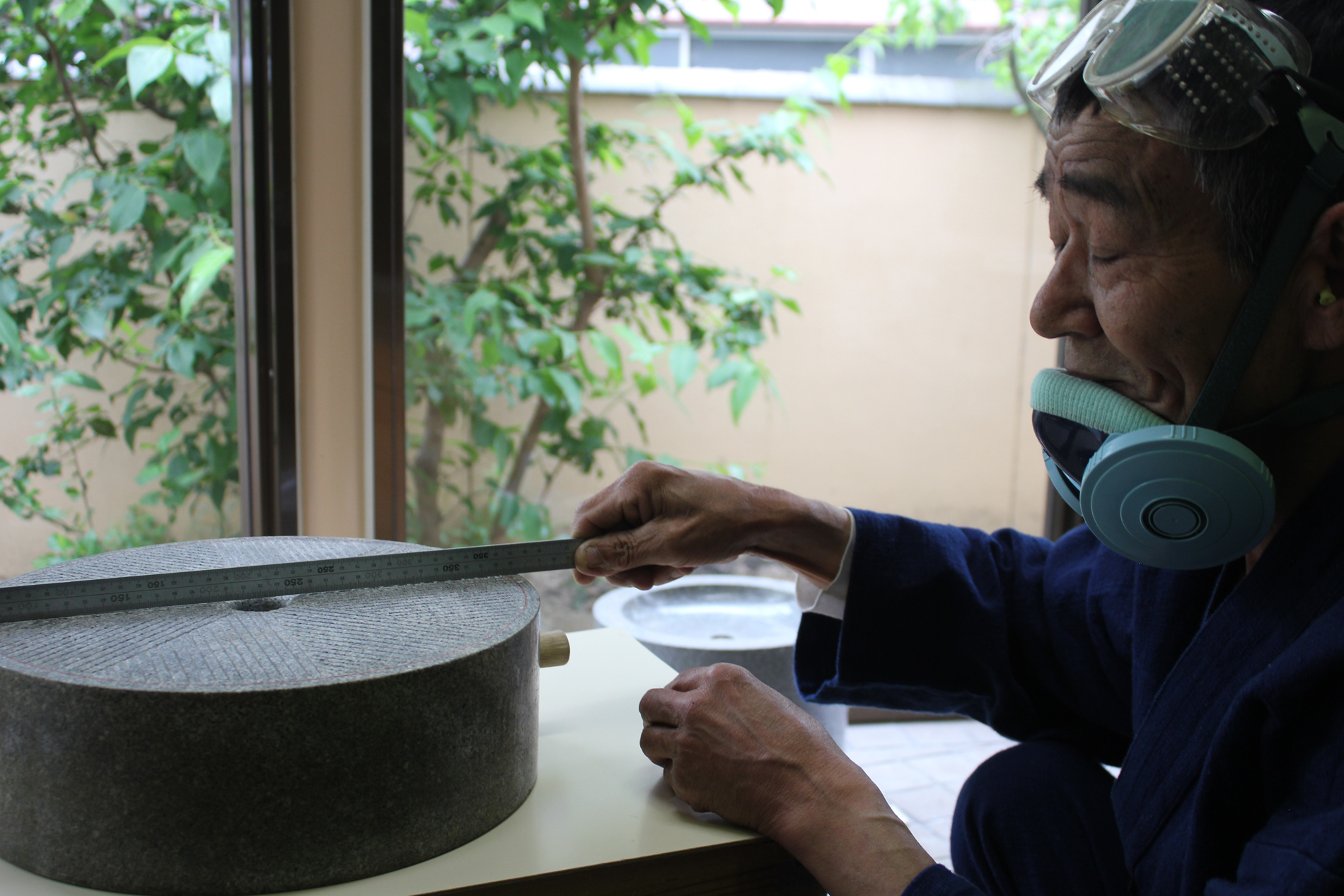 Worker at supplier in Nishio. Courtesy of Matcha Bar.