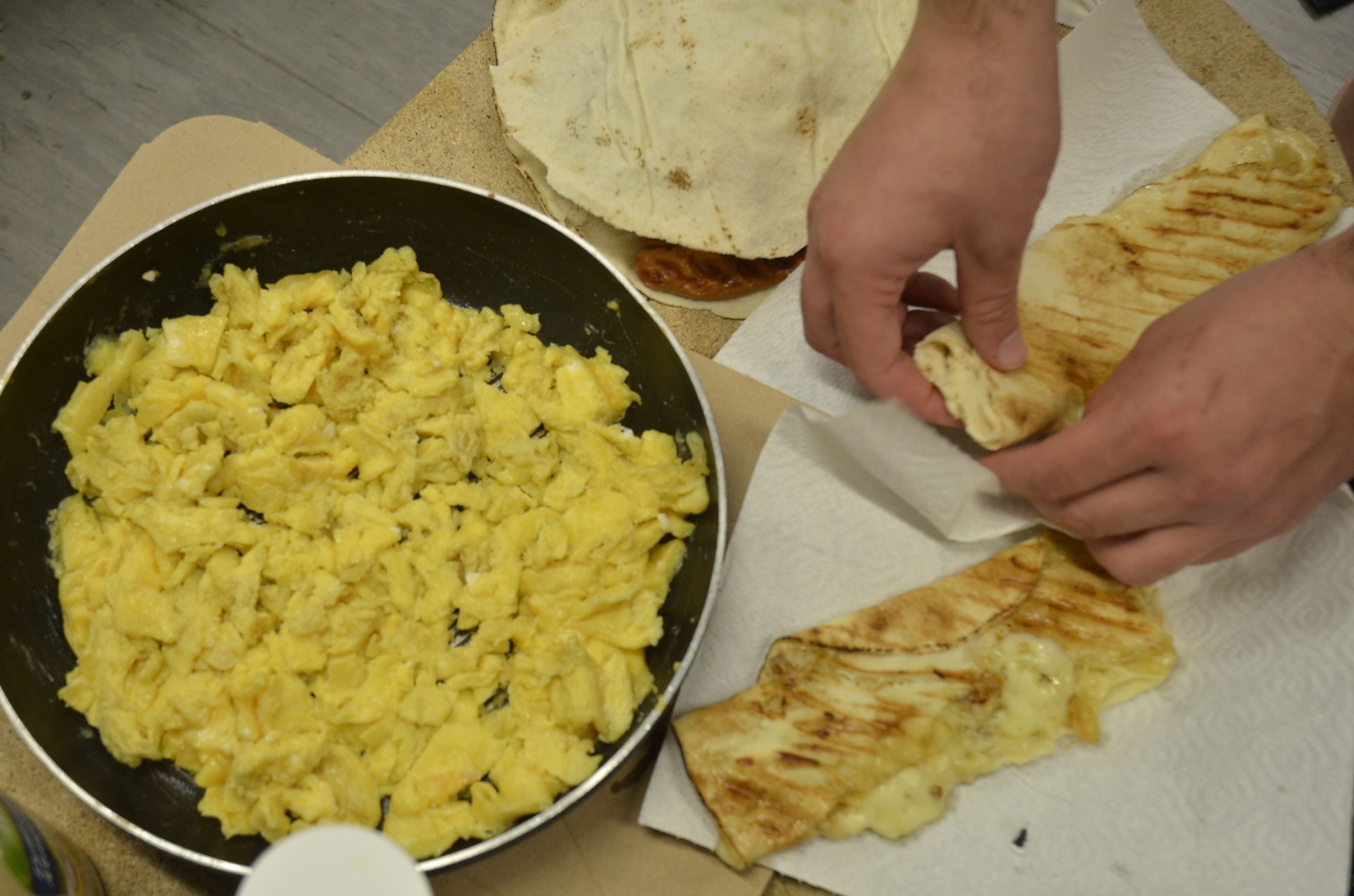 Scrambled eggs feast