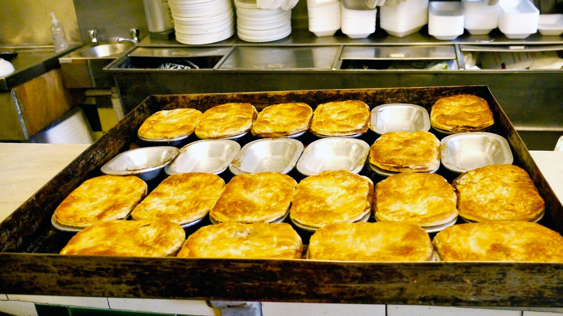 tray of pies