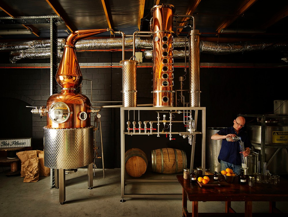 Cameron Mackenzie in the Four Pillars distillery. Photo by Anson Smart