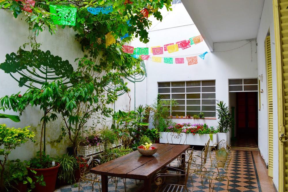 The garden at Casa Felix.