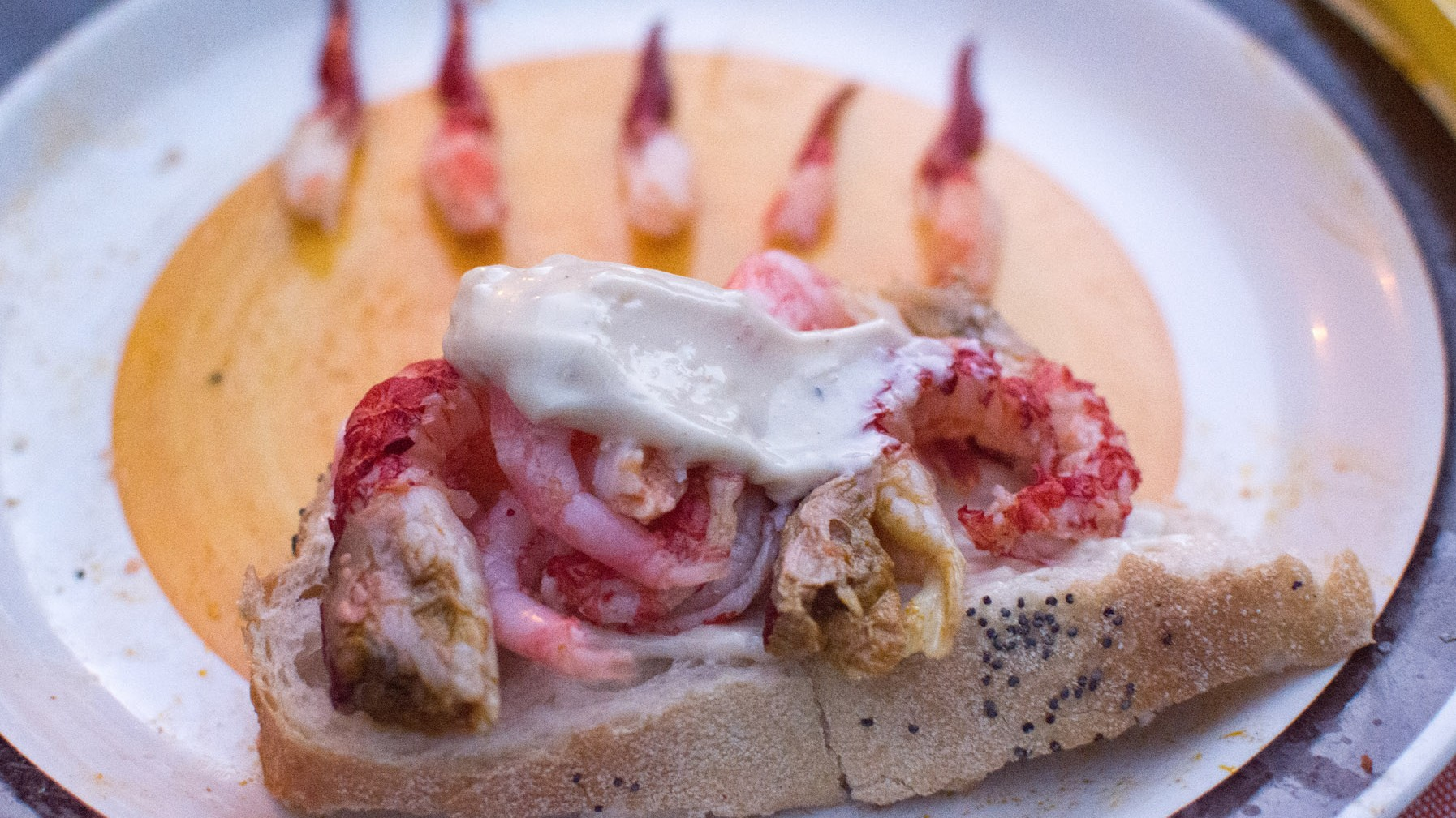 crayfish party - shellfish sandwich, photo by Frans Ljus