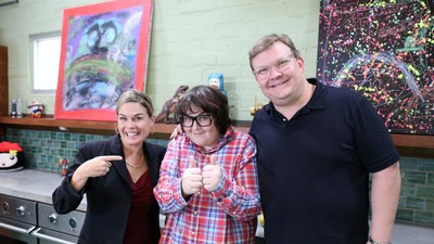 Fat Prince: Chicken Noodle and Lamb Guts Soup with Cat Cora and Andy Richter
