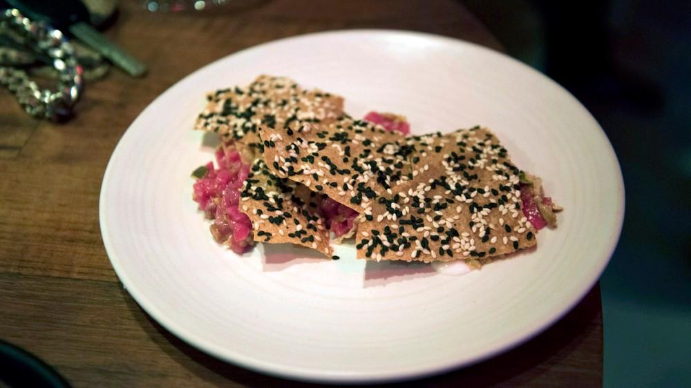 fourhorsemenBeef tartare, seeds, buttermilk, sesame cracker