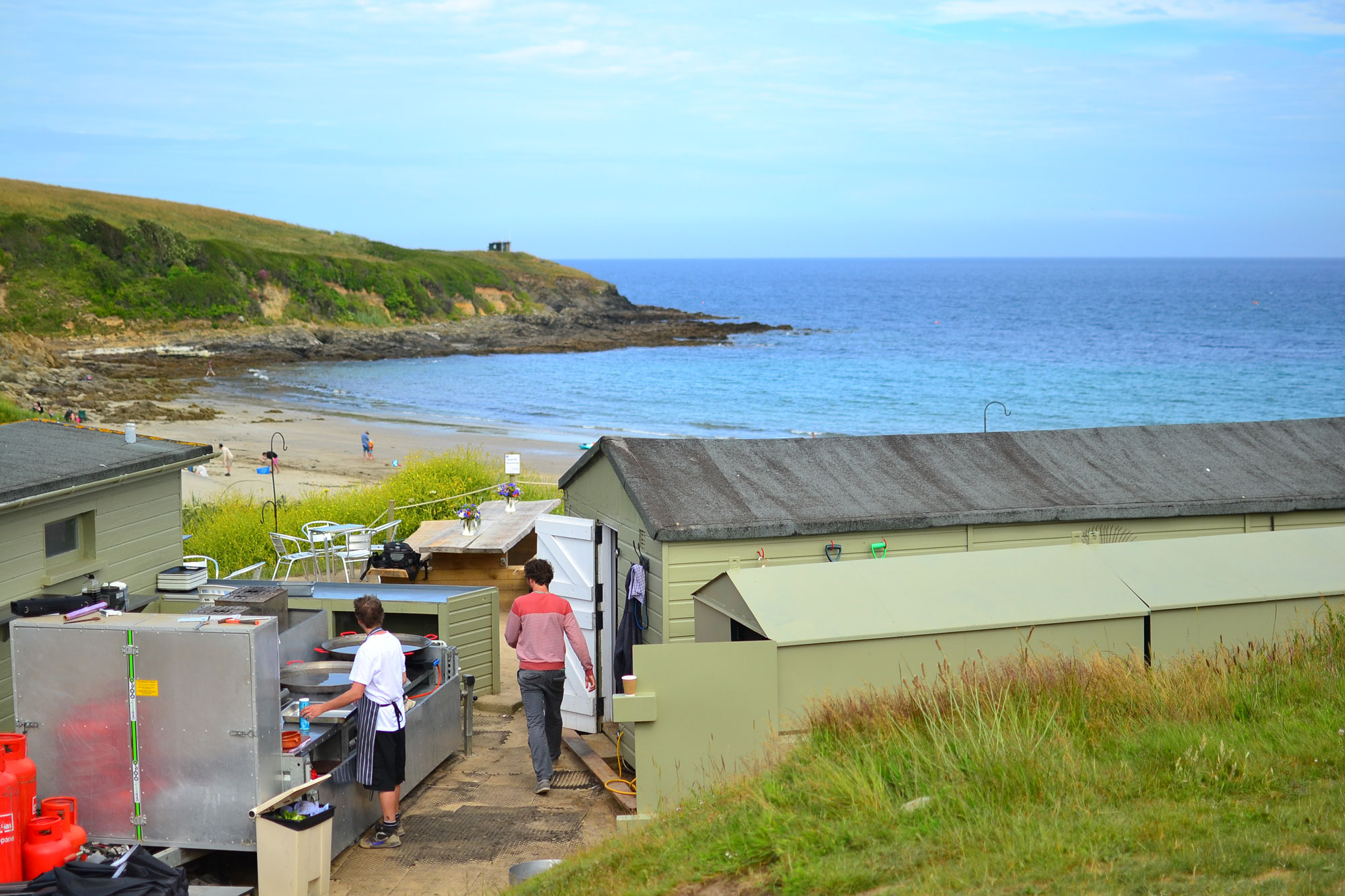 The Hidden Hut cafe, close to Portscatho in Cornwall. All photos by the author.