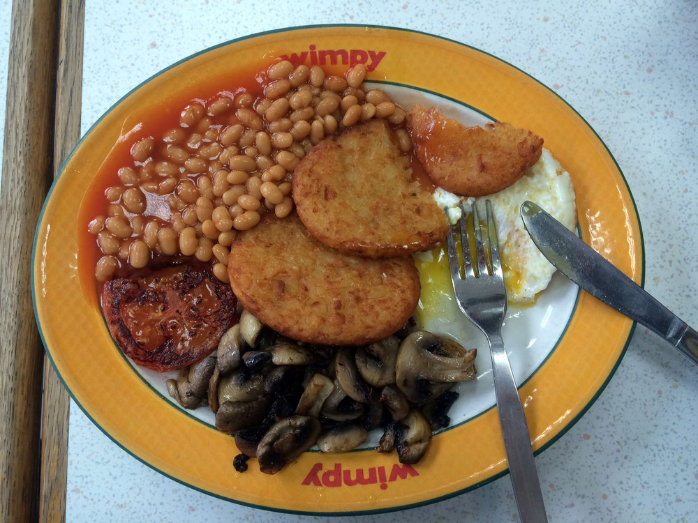 Eating Breakfast, Lunch, and Dinner in London's Last WIMPYs