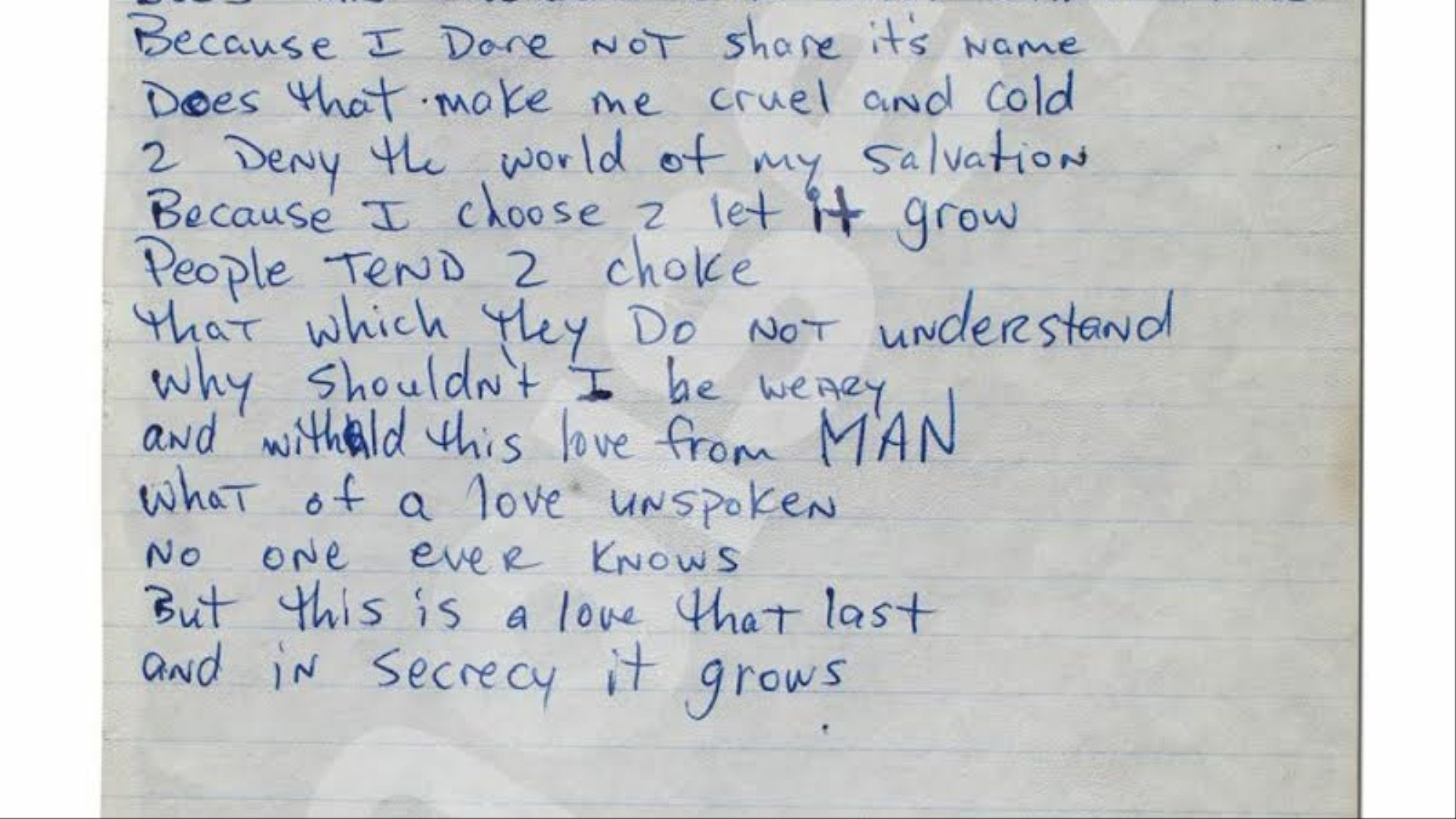 Read These Previously Unreleased Handwritten Poems by a 17-Year-Old