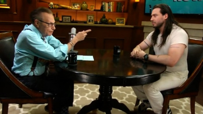 Andrew W.K. Tells Larry King About the Time He Did a Number Two in His Pants on Stage