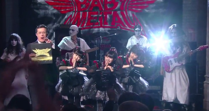 Watch Babymetal Take Their Metal Resistance to 'The Late Show With Stephen Colbert'