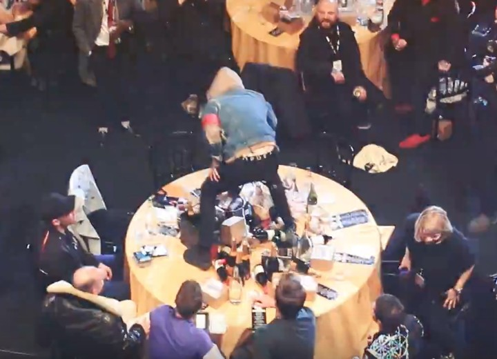 Beef Is Sempiternal: Bring Me The Horizon Destroy Coldplay's Table at NME Awards