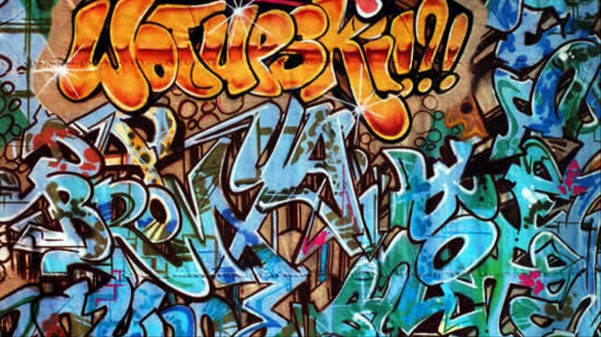 Graffiti inspired album artwork