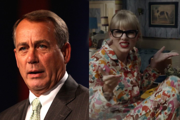 John Boehner is using Taylor Swift GIFs to Criticise Obama