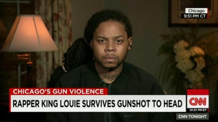 King Louie Speaks to CNN About Chicago and Gun Violence After Being Shot in the Head