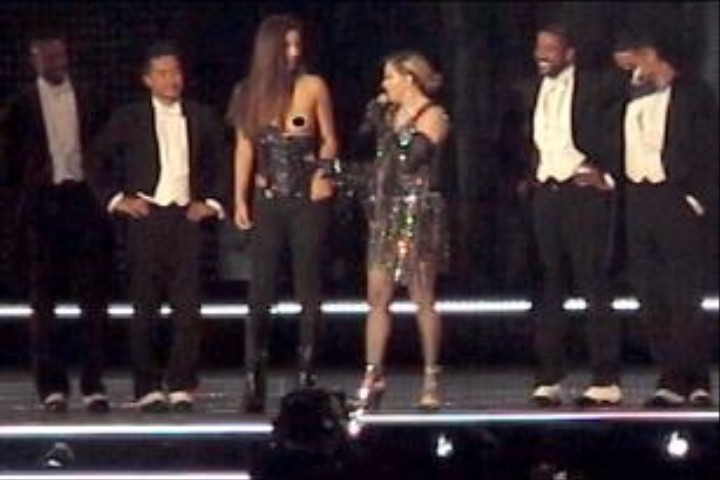 Madonna Pulls Girl's Top Down on Stage, Reveals Double Standards