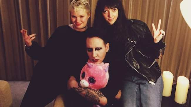 I gave marilyn manson a pink stuffed unicorn and he gave me sex tips i meet marilyn manson in his hotel room in kensington after we shake hands he darts around the room trying to decide whether to sit on the three seater m4hsunfo