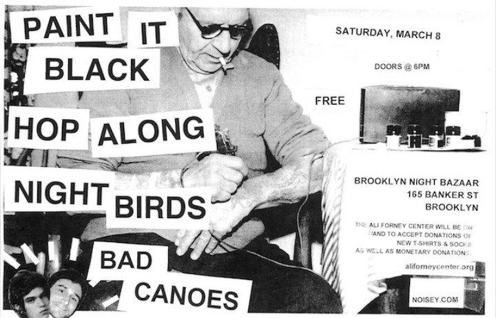 Noisey Presents: Paint It Black in NYC with Hop Along, Night Birds, and Bad Canoes