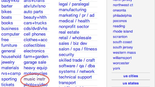 Oh The People You Ll Meet Buying Gear On Craigslist Noisey